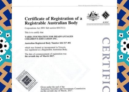 Certificate of Registration of a Registrable Australian Body